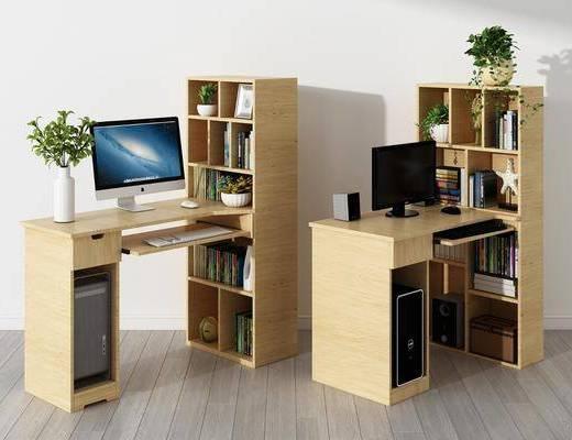 现代电脑桌, 电脑桌, 书桌