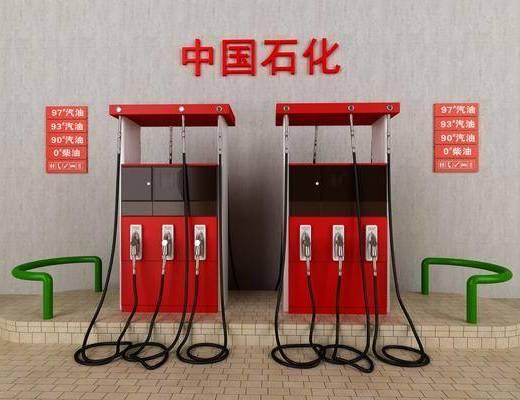加油站, 加油设施, 现代