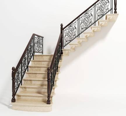 简欧铁艺楼梯, 楼梯