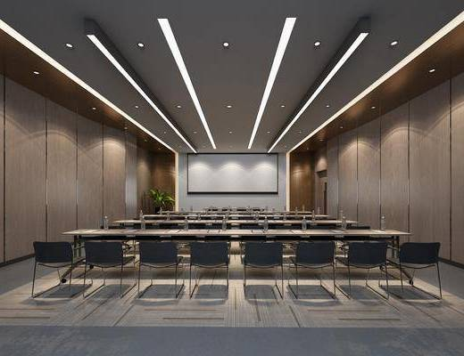 会议室, 现代会议室, 会议厅, 单椅, 屏幕