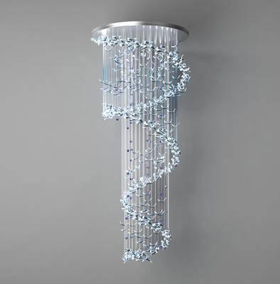 水晶吊灯, 吊灯, 灯, 现代吊灯