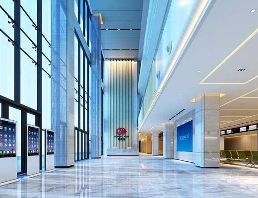 营业大厅, 银行, 前台接待, 现代
