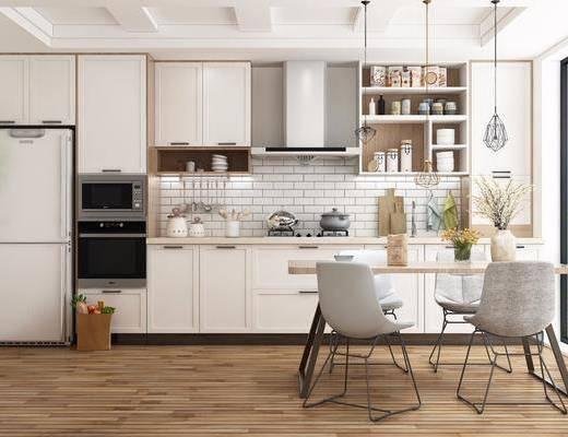 廚房櫥柜, 廚房電器, 廚房用品, 廚具組合, 餐桌椅組合, 蒸烤箱, 煙機灶具, 吊燈組合, 北歐
