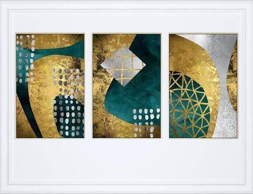 抽象挂画, 挂画组合, 组合画, 艺术画, 现代