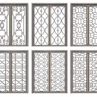 推拉门, 新中式, 移门, 现代, 门, 门构件