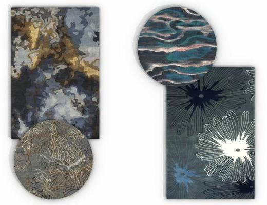 时尚地毯, 方形地毯, 地毯组合, 现代