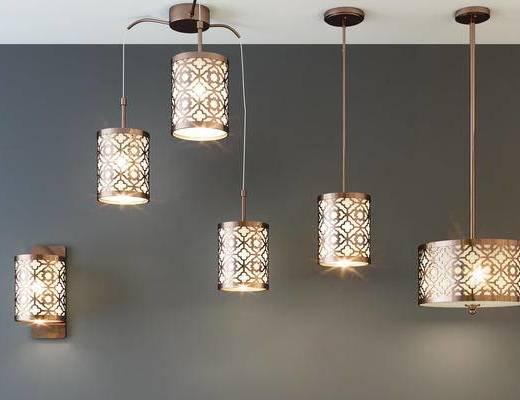 新中式吊灯, 新中式壁灯, 壁灯, 吊线灯, 新中式, 中式, 吊灯, 灯具, 灯