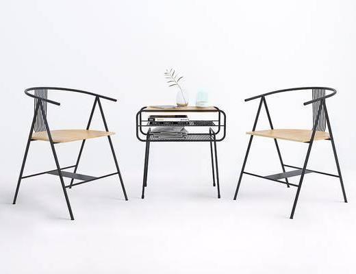 单人椅, 边几, 边几组合, 现代
