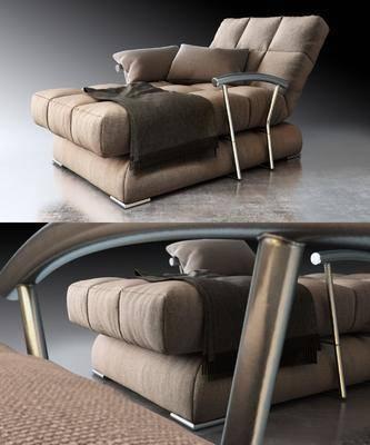 沙发, 贵妃躺椅, 布艺沙发, 现代