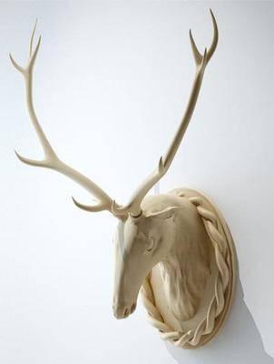 北欧鹿头挂件, 工艺品, 装饰