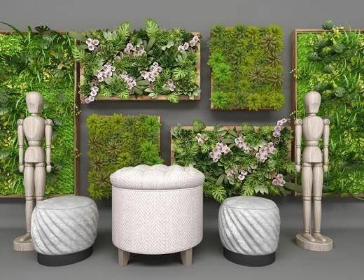 现代植物墙, 植物墙, 现代绿植, 绿植