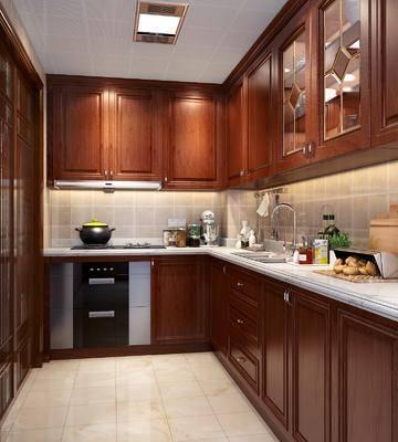 厨房, 橱柜, 摆件, 装饰品, 陈设品, 新中式
