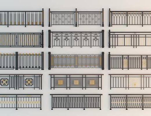 栏杆, 铁艺围栏, 围栏