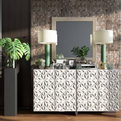 美式电视柜, 装饰柜架, 新古典边柜, 柜架组合