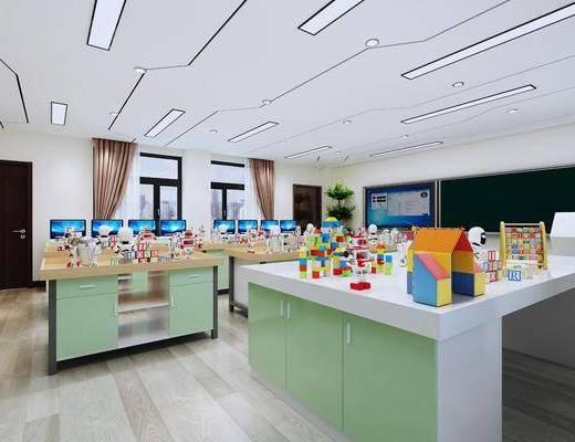 课室, 实验室, 玩具