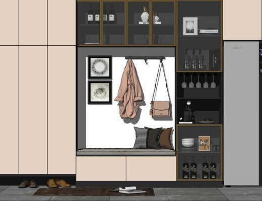现代, 玄关, 鞋柜, 柜架