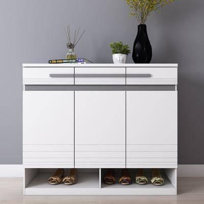 鞋柜, 摆件, 装饰品, 现代鞋柜, 现代, 花瓶, 花火