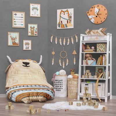 玩具, 置物柜, 墙饰, 装饰画
