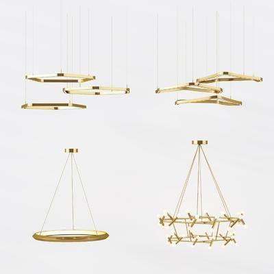 金属吊灯, 艺术吊灯, 异形吊灯, 吊灯, 现代, 吊灯组合