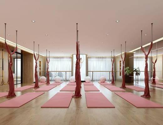 瑜伽馆, 现代瑜伽馆, 瑜伽垫
