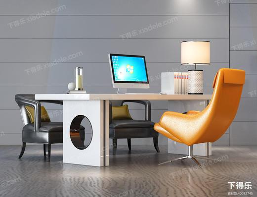 办公桌, 办公椅, 办公桌椅, 现代椅子, 椅子, 单人椅