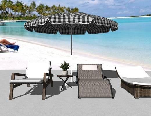 户外椅, 躺椅, 沙滩椅, 遮阳棚