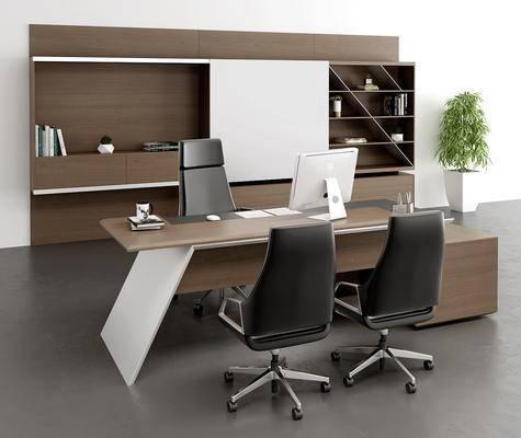 現代, 辦公桌, 桌椅組合