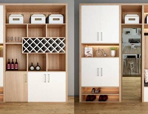 装饰柜, 鞋柜, 摆件, 装饰品, 陈设品, 现代