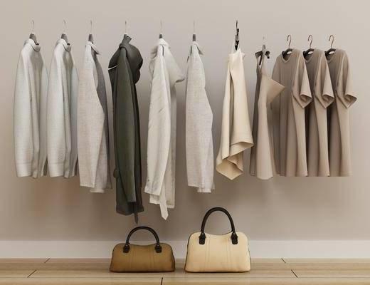 服装鞋帽, 衣服, 女装, 手提包, 挎包, 现代服装包包