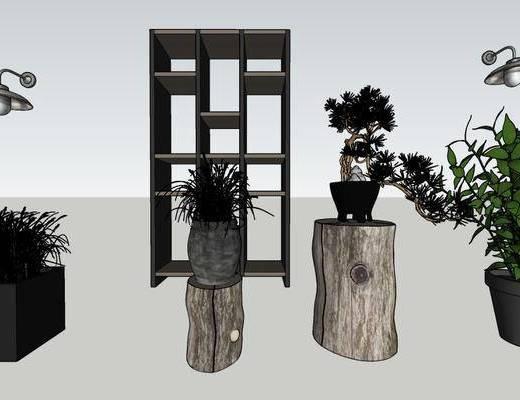盆栽, 植物, 摆件