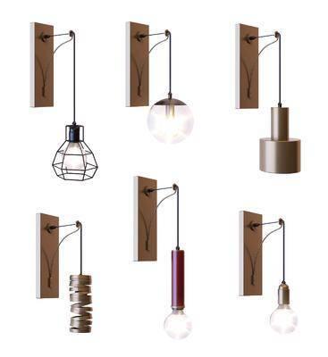 铁艺壁灯, 金属壁灯, 工业风