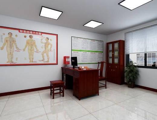新中式, 诊断室, 工装