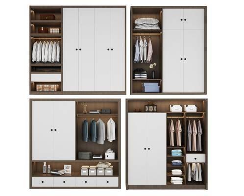衣柜组合, 装饰柜, 服饰, 装饰品, 陈设品, 现代