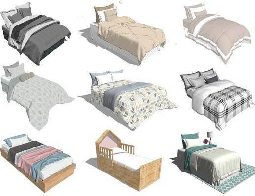 单人床组合, 单人床, 床具组合