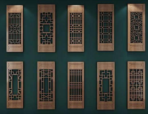 古典中式窗户, 窗花, 花格