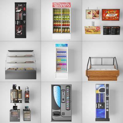 糕点柜, 收银机, 冰柜, 酒柜