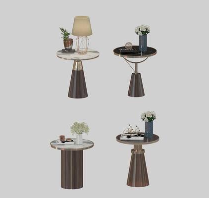 茶几, 摆件组合, 现代圆几摆件组合