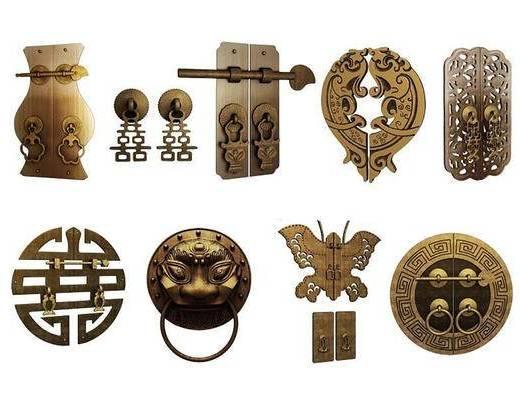 中式, 门扣, 五金件