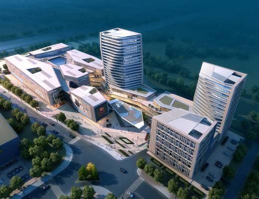 建筑, 公建, 景观, 鸟瞰