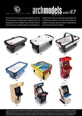 游戏机, 街机, 球桌, Evermotion, Archmodels, EV