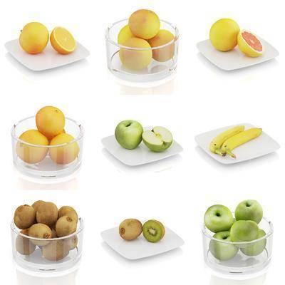 玻璃碗, 水果, 现代, 双十一