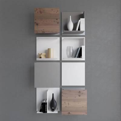 收纳柜, 现代, 北欧, 装饰柜, 置物柜, 陈设品, 边间, 墙饰