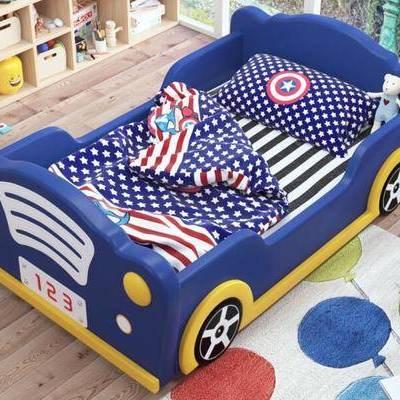 儿童床, 家具, 汽车, 玩具, 装饰品, 现代, 汽车床