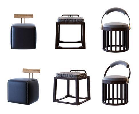 矮凳, 凳子, 新中式