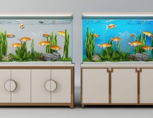 鱼缸组合, 现代