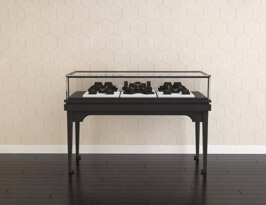 现代珠宝柜, 现代, 珠宝柜, 珠宝, 首饰, 展示架