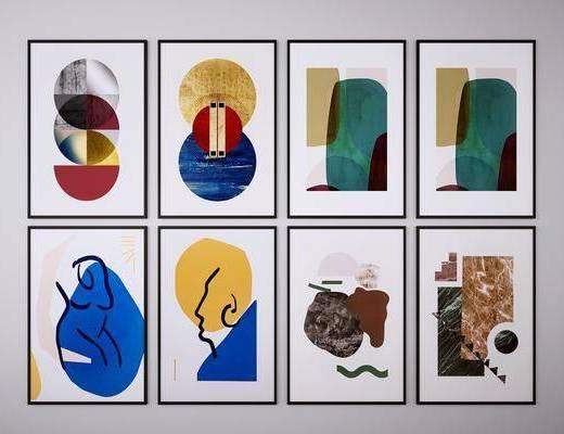 裝飾畫, 掛畫, 抽象畫