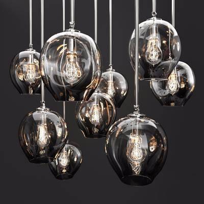 現代吊燈, 吊燈, 玻璃吊燈