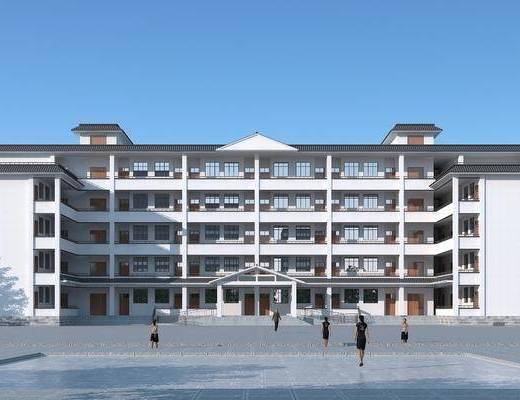 学校, 教学楼, 建筑