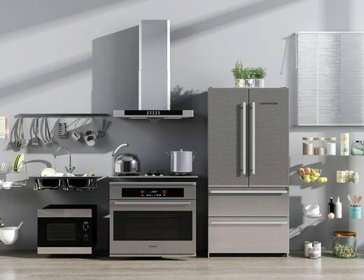 摆设, 用品组合, 厨房, 厨具组合
